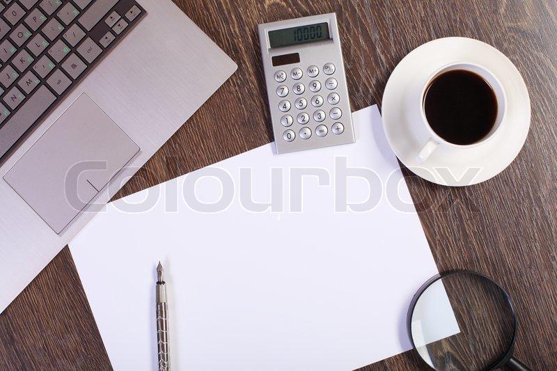 buy stock photos of office table | colourbox