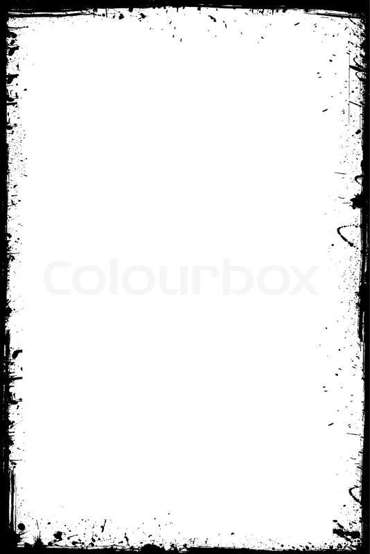 Black grunge frame isolated on the white background | Stock Vector ...