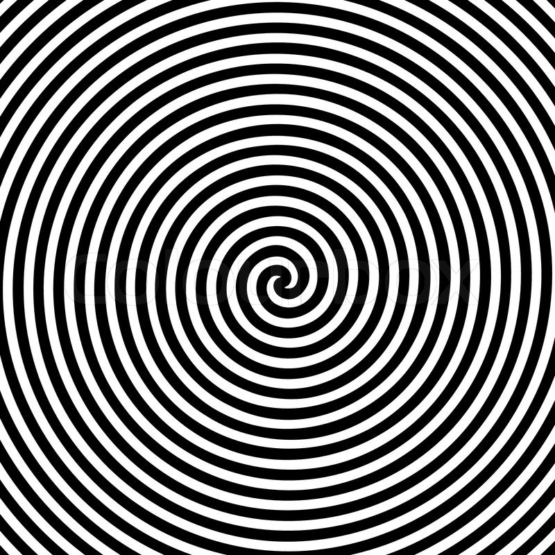 Black And White Hypnotic Background Stock Vector Colourbox