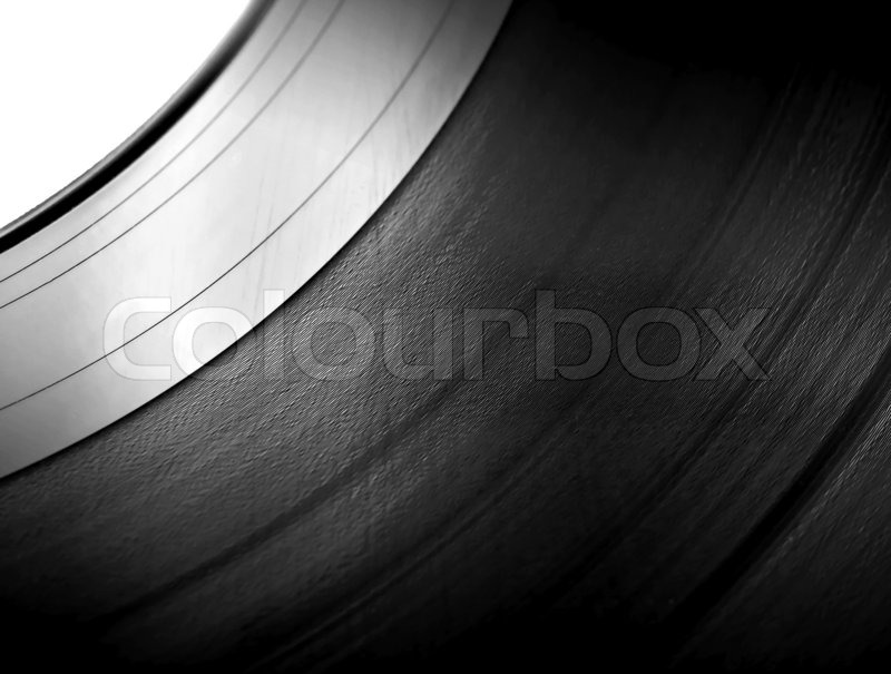 Detailed Vinyl Lp Close Up Blue Stock Photo Colourbox