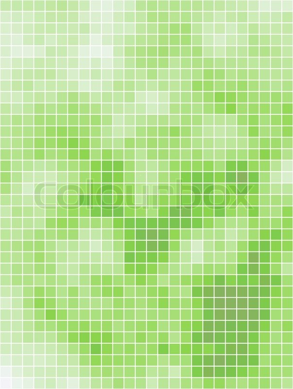 abstract light green summer square mosaic background
