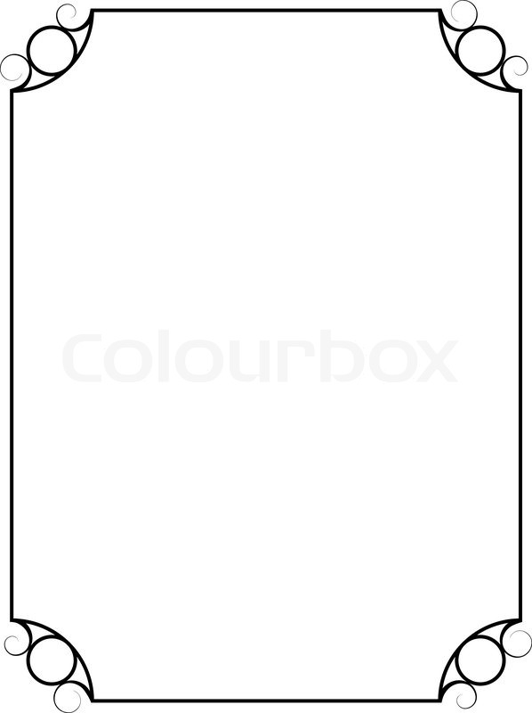Simple Vintage Vector Frame Isolated On White Background
