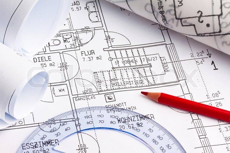 Blueprint of a house construction stock photo colourbox malvernweather Image collections