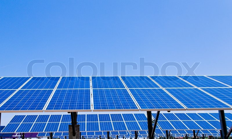 Stock image of 'Solar energy power plant'