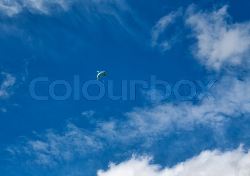 Balloon In The Shape Of A Dolphin In Stock Photo