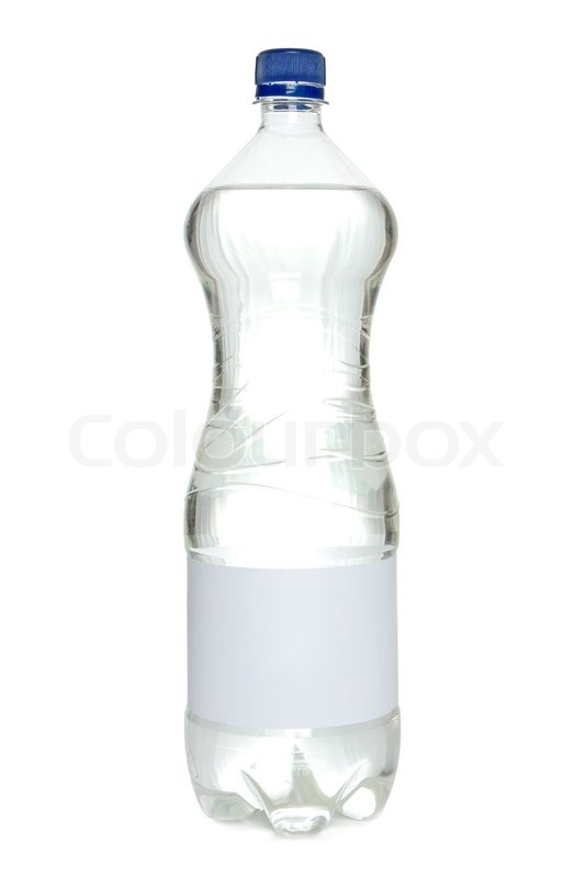 Water bottle with blank label | Stock Photo | Colourbox