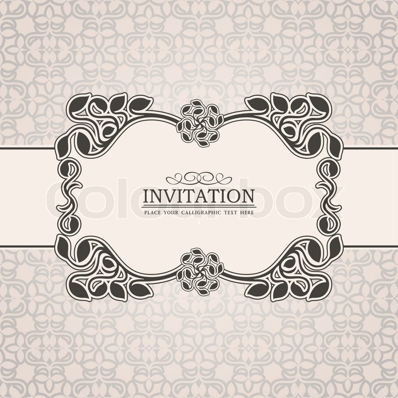 Abstract leaf background, exclusive, creative ornament, ornate, baroque, luxury, vintage, royal ...