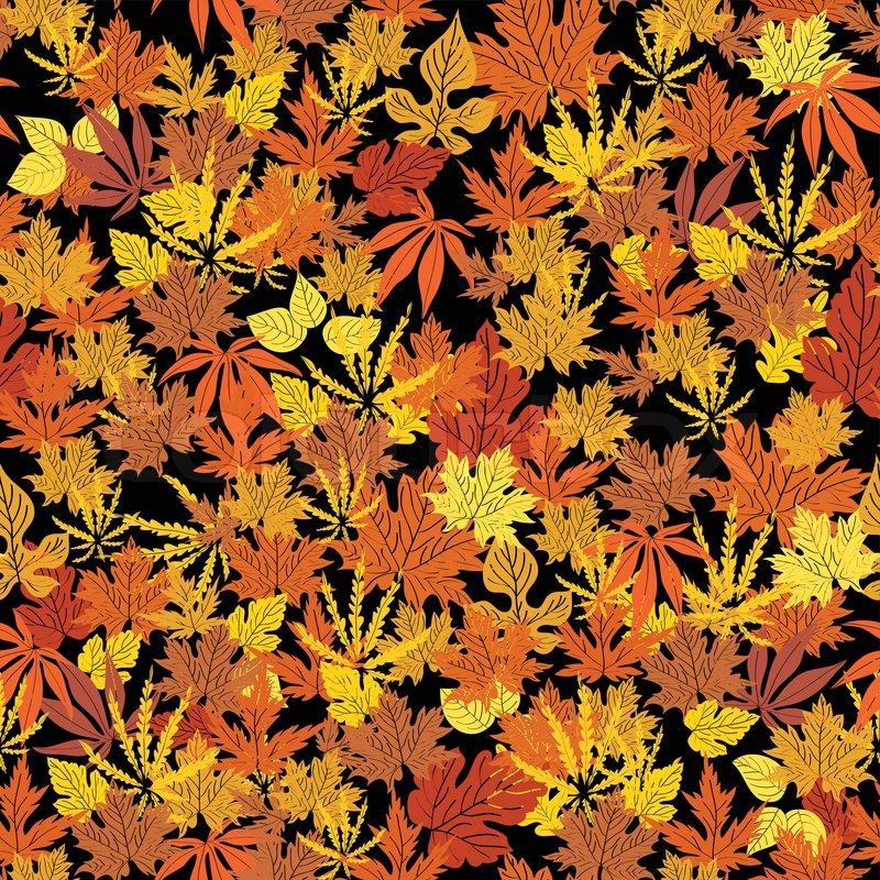 Abstract Autumn Background, Creative Leaf Fall; Orange