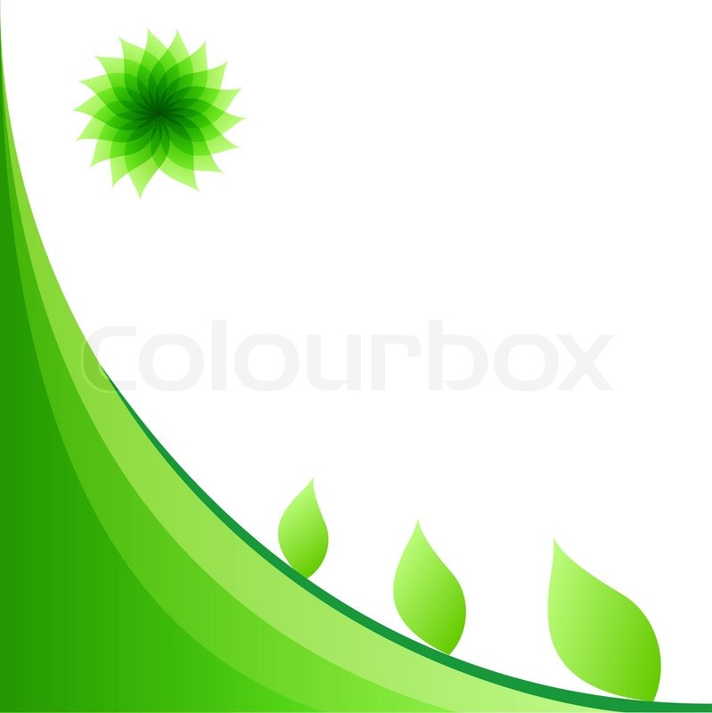 Abstract Light Green Background With Copy Space Eps10 File Stock