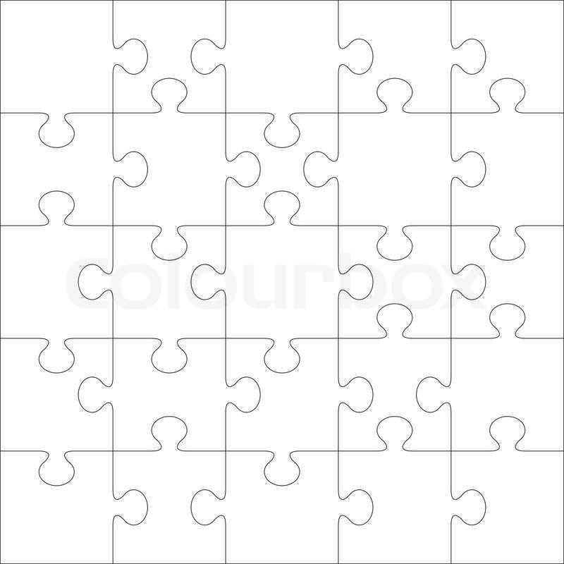 Puzzle Vektor Vorlage. mit Puzzle-Teile dieser Illustration können ...