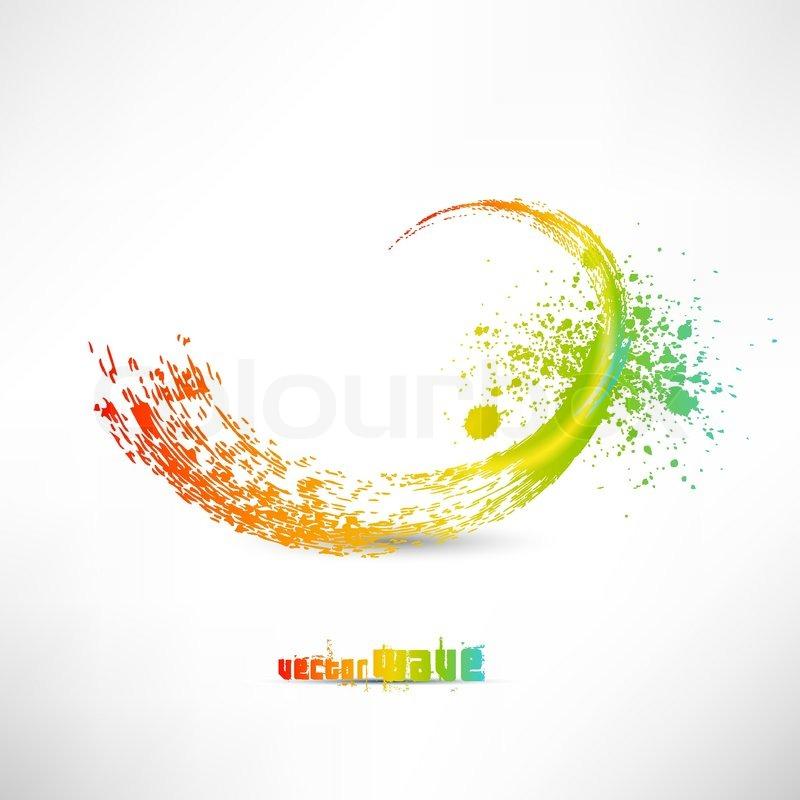 paint vector color paint splashes stock vector colourbox