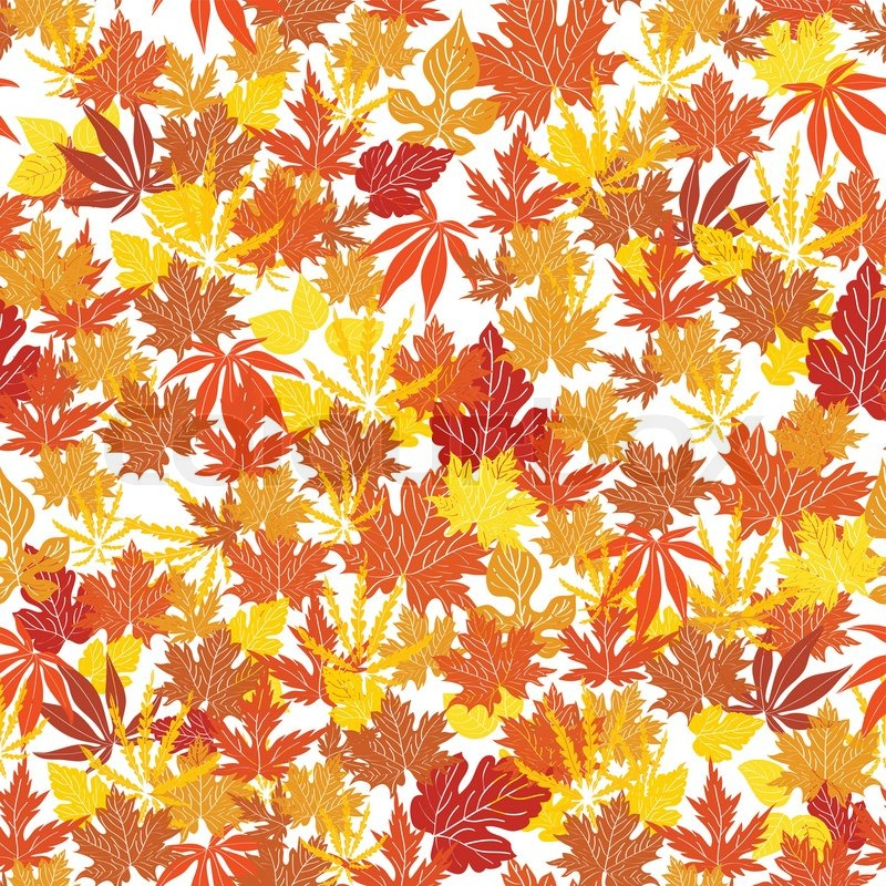 abstract autumn background creative leaf fall orange yellow red