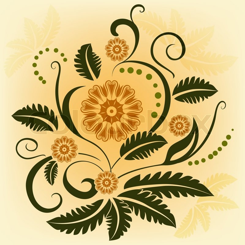Ornamental Design Flower Ornamental Vector Flower