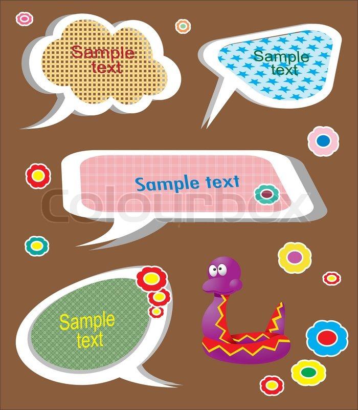 8d33dd526992 Set of cute childlike text frames. ...