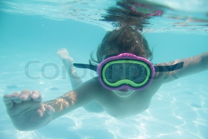 Underwater Portrait Of Young Child   Stock Photo -3190