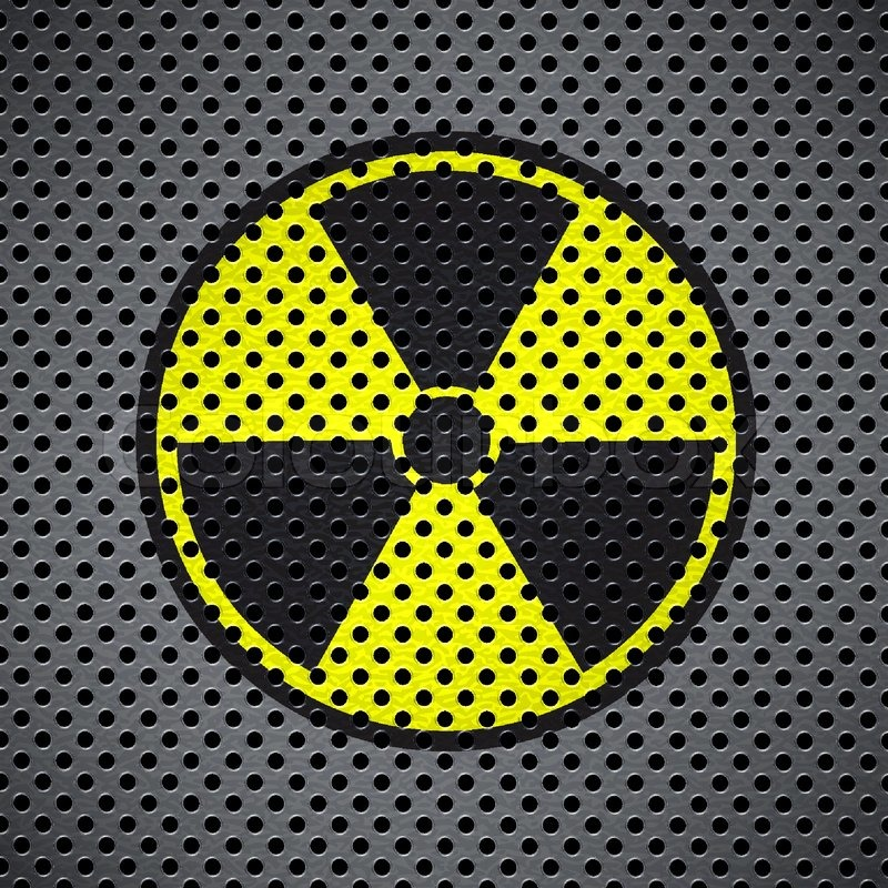 Metal Background With Radiation Symbol Stock Vector