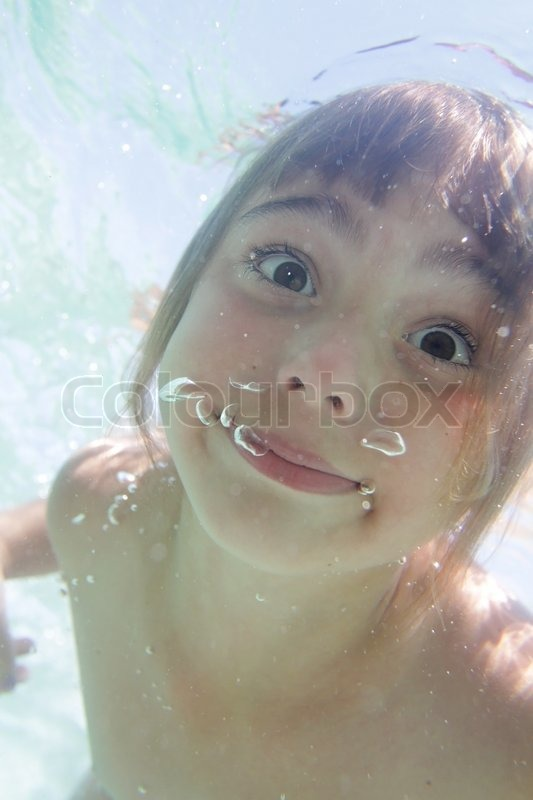 Portrait Of Young Girl Looking   Stock Image  Colourbox-2803