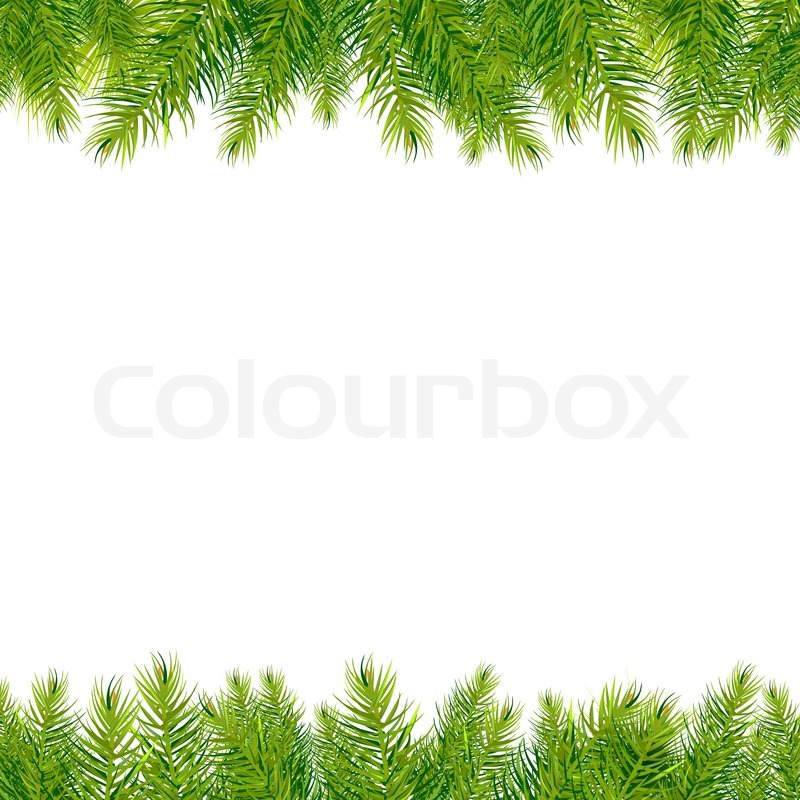 Christmas Tree Borders Stock Photo Colourbox