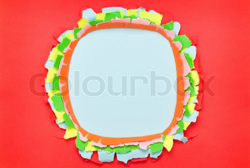 Hole in paper, stock photo