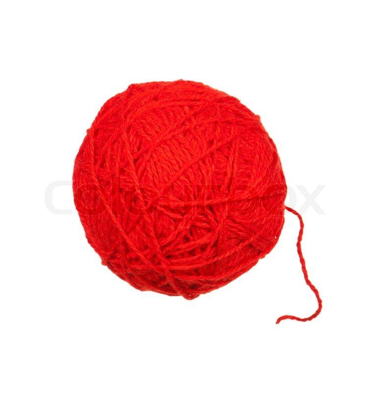 Red ball of yarn   Stock Photo
