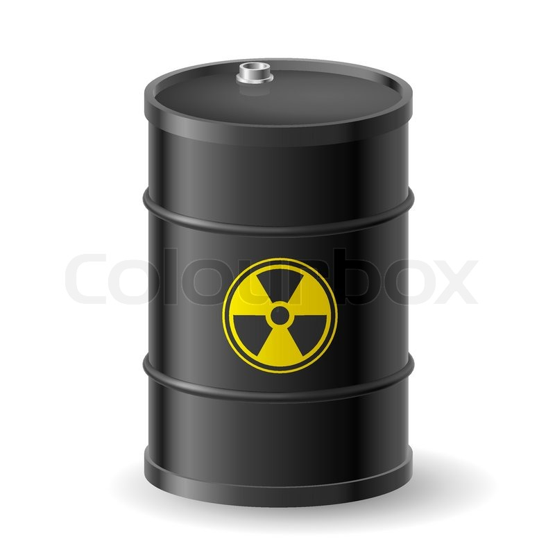 Radioactive Barrel Stock Vector Colourbox