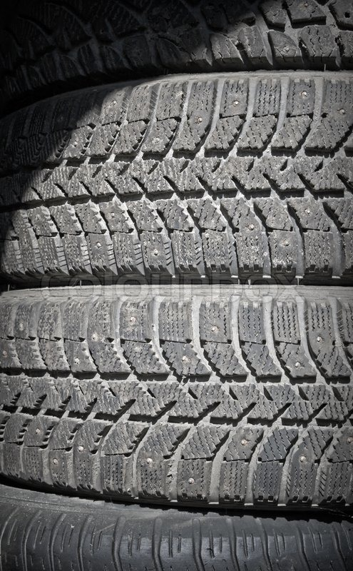 Background Texture Of Used Car Tires Stock Photo Colourbox
