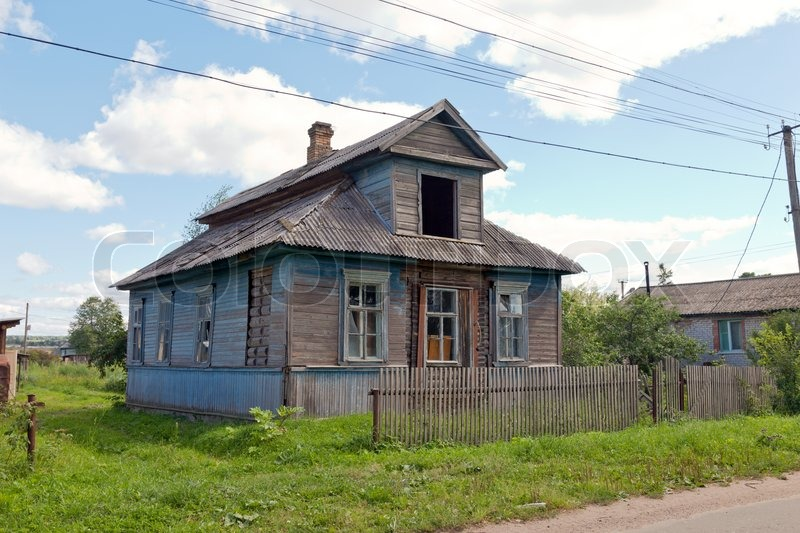 Old Wooden House In Russian Village Stock Photo Colourbox
