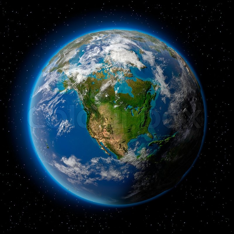 Earth in space stock photo colourbox for 3d outer space map