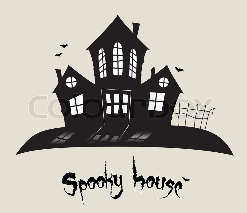 haunted house silhouettes coloring pages - photo#24