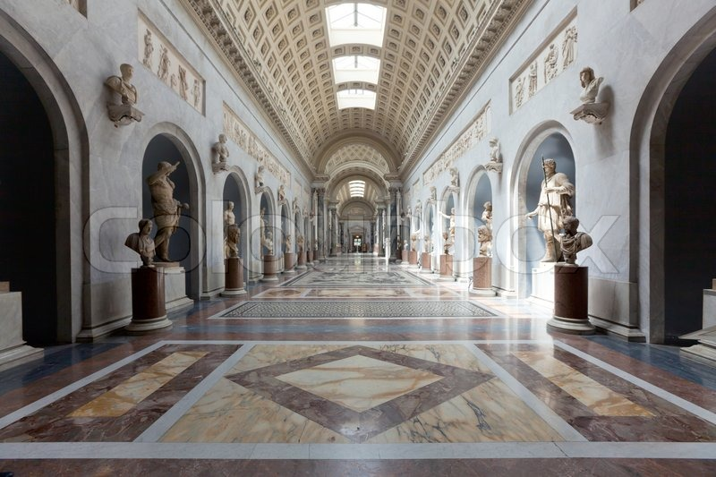 Italy older interior vatican museum in rome stock photo - Interior design roma ...