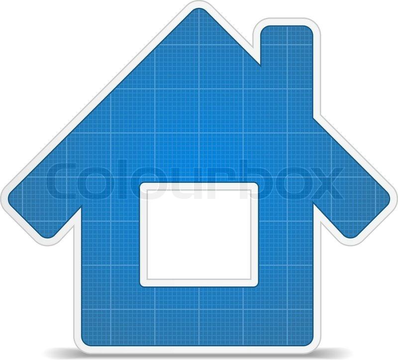 Blueprint house icon stock vector colourbox malvernweather Images