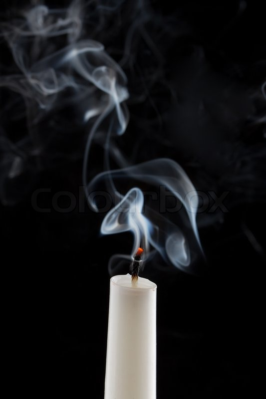 Extinguished Candle With Smoke Metaphor Of The Death