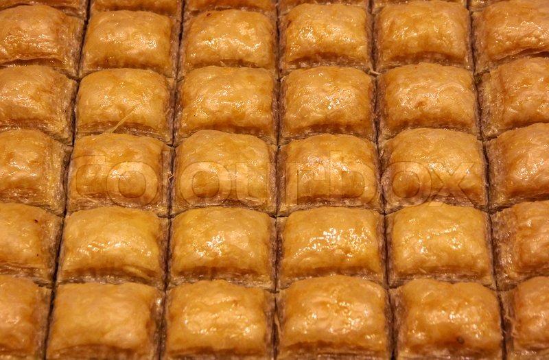 Traditional Turkish Baklava Sweet Dessert Made Of Thin