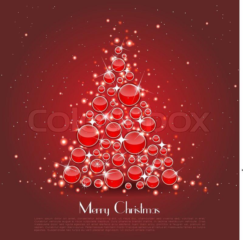 Christmas Tree Made Of Red Balls