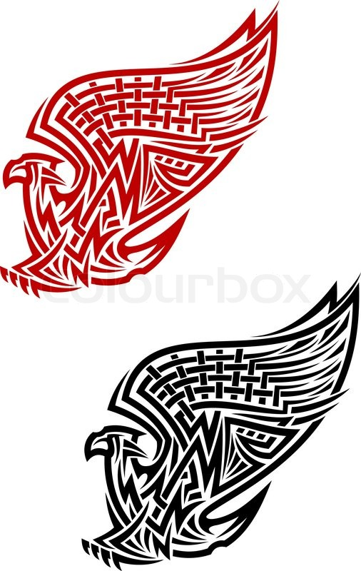 Griffin Symbol In Celtic Style For Tattoo Or Heraldry Design Stock