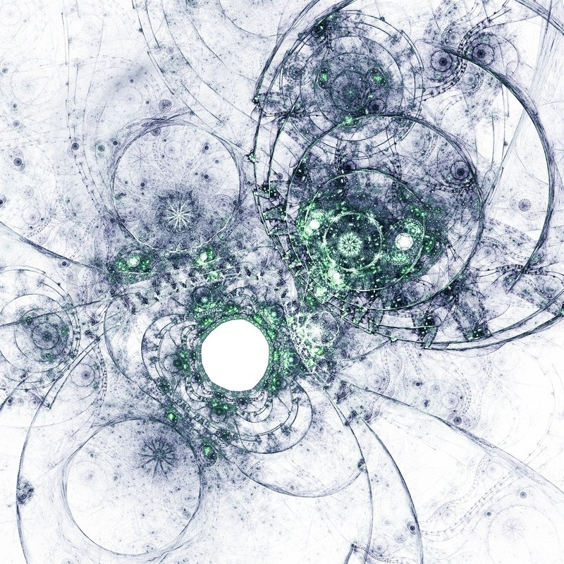 fractal artwork  abstraction of a clockwork water