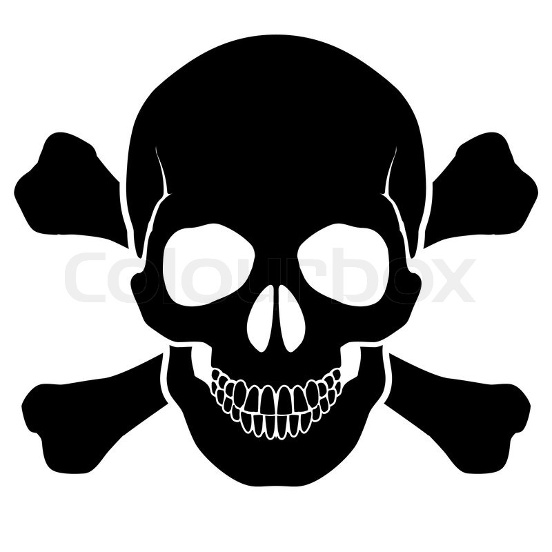Skull And Bones Stock Vector Colourbox
