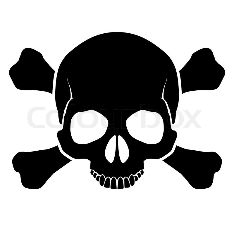 Skull And Crossbones Stock Vector Colourbox
