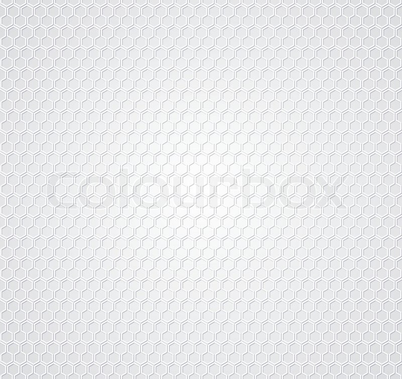 White honeycomb background | Stock Vector | Colourbox