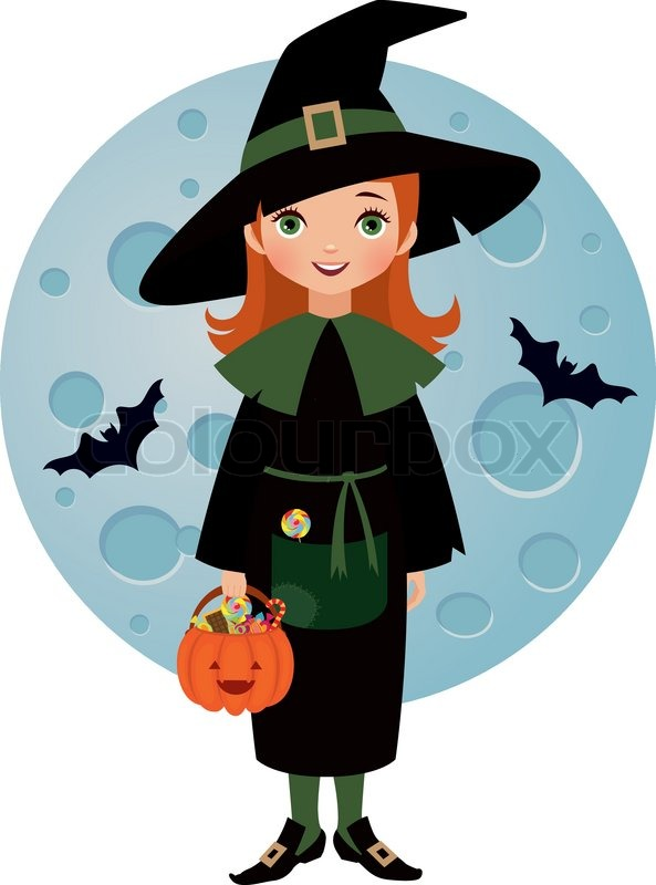 little witch stock vector colourbox trick or treat clipart transparent background trick or treat clipart black and white
