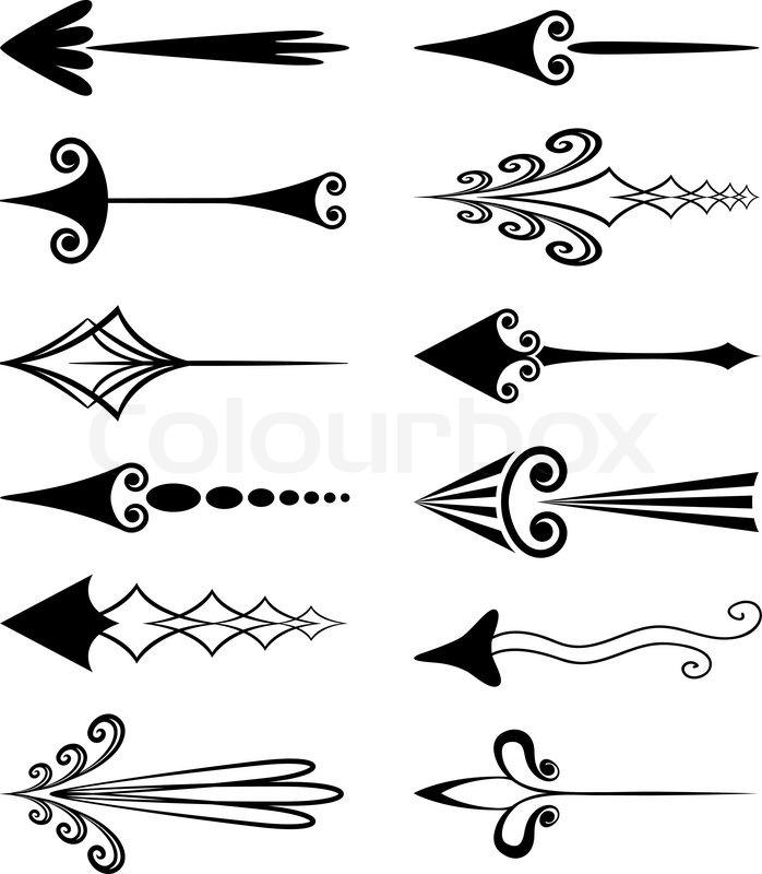 vintage arrows stock vector colourbox rh colourbox com Vintage Arrow Clip Art vintage hand arrow vector