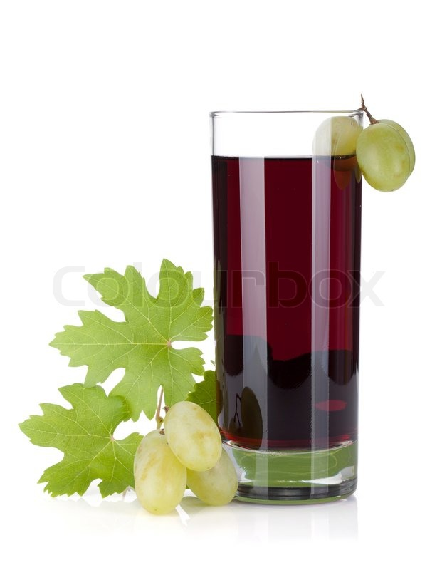 Glass of grape juice | Stock Photo | Colourbox