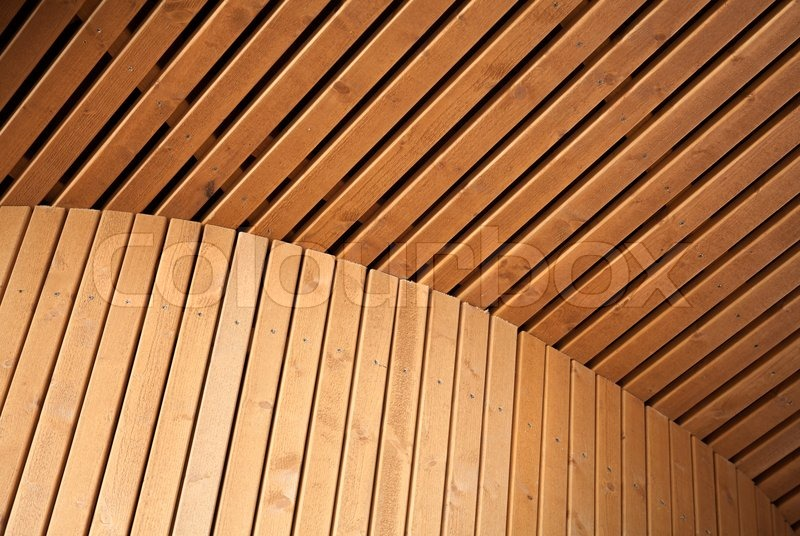 Architecture Design Background abstract architecture background with wooden planking curved
