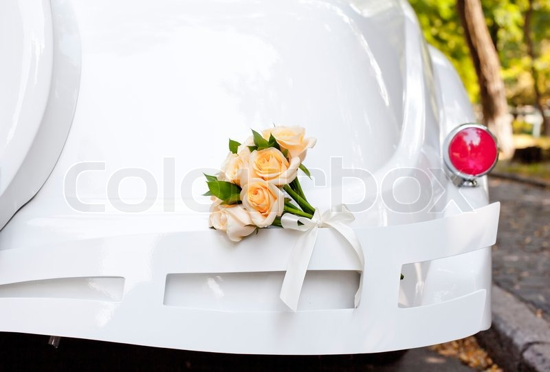 Wedding car decorated with flowers newhairstylesformen2014 com