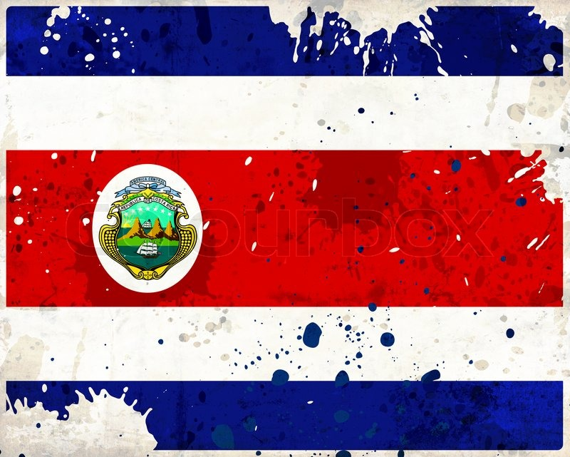 grunge costa rica flag stock photo colourbox