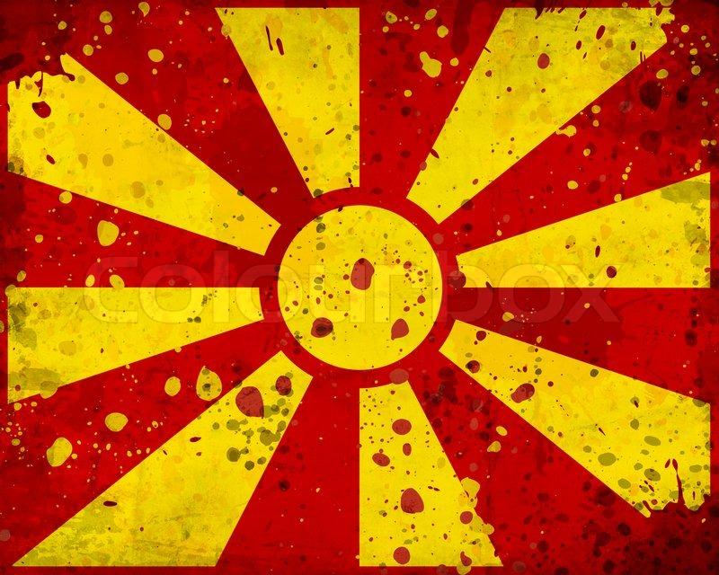 Macedonian Flag Wallpaper Grunge Macedonia Flag With