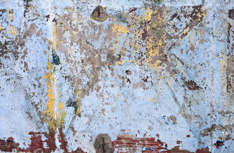 Texture Of Vintage Grunge Concrete Wall With Peeling Color