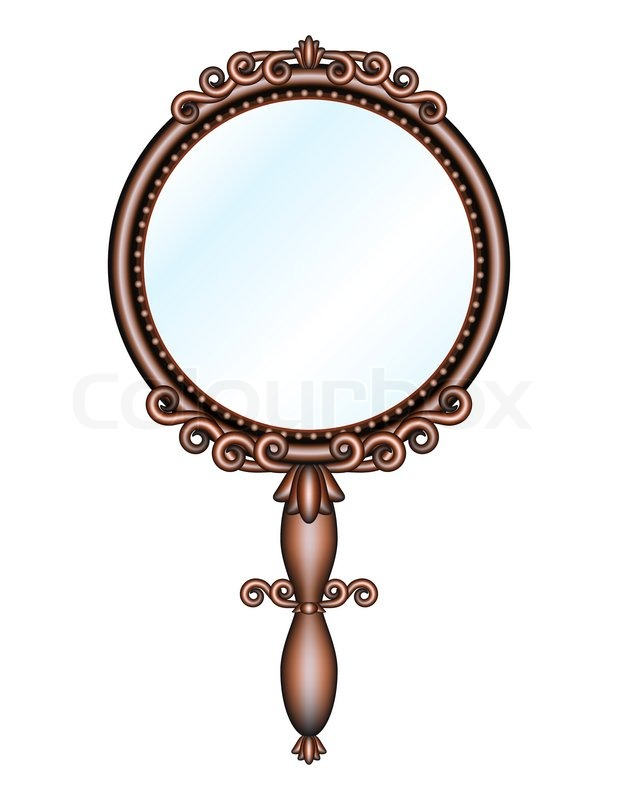 Antique Retro Hand Held Mirror Stock Photo Colourbox