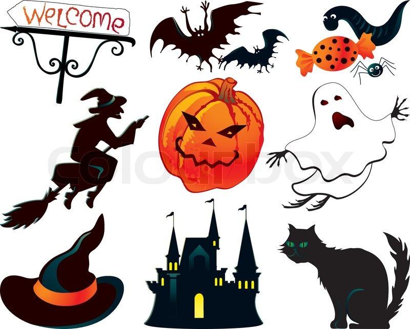 Halloween symbols | Stock Vector | Colourbox