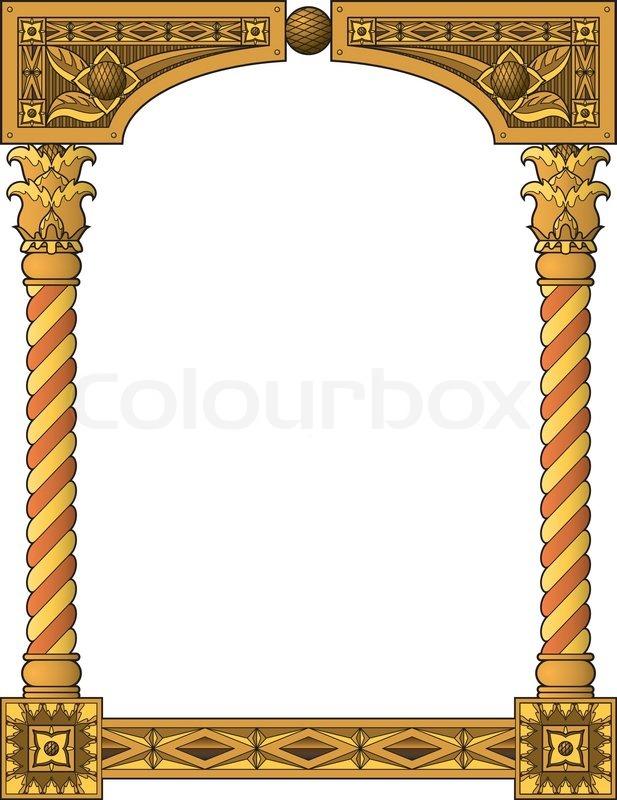 Traditional Column Frame Stock Vector Colourbox